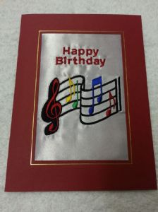 HAPPY BIRTHDAY CARD - Music Musical Notes